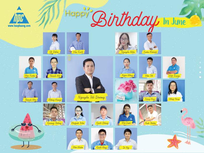Chúc mừng các thành viên sinh nhật tháng 6