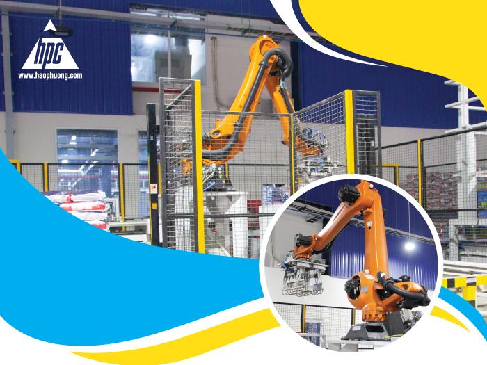 Robot Palletizing - Sự lựa chọn giúp tự động hóa hoàn toàn khâu xếp bao trong sản xuất